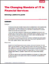 The changing mandate of IT in financial services