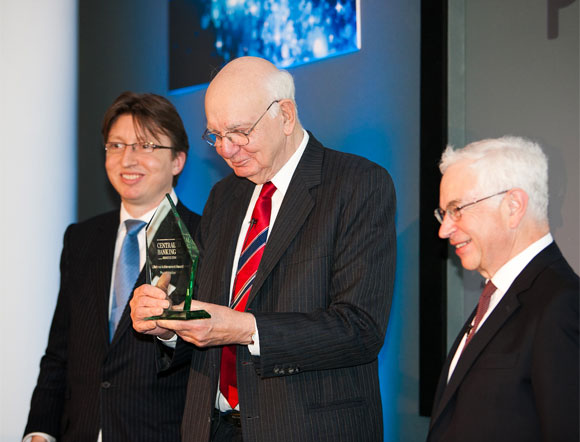 RLifetime Achievement Award for 2014: Mr. Paul Volcker